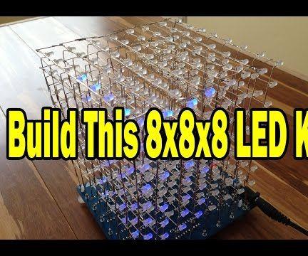 8x8x8 LED Cube Kit Instructions (Kits on Ebay)