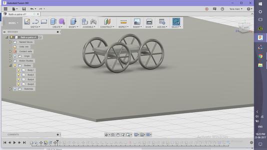 Creating Base and Wheel