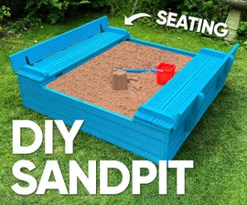 Kids Sandpit With Seating Lid