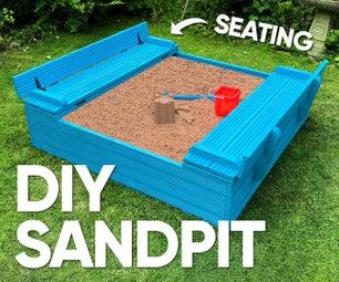儿童沙坑与座位盖子